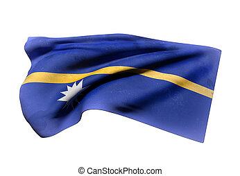 drapeau, nauru, république