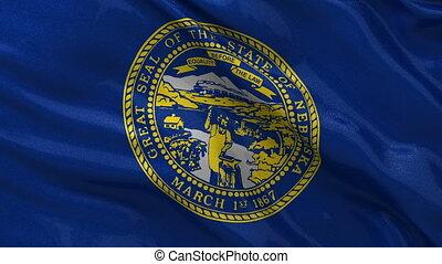 drapeau, nebraska, état, nous, boucle