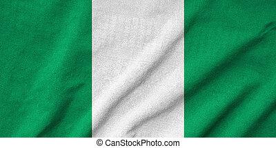 drapeau nigéria, a froissé
