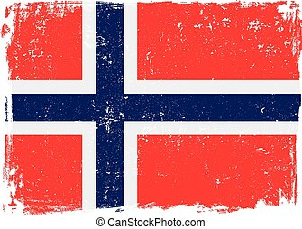 drapeau norvège, vector.eps
