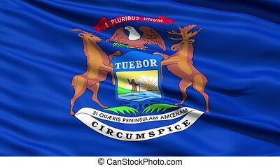 drapeau, nous, onduler, état, york, nouveau