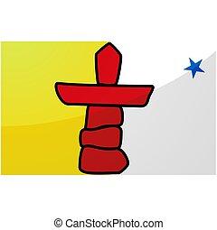 drapeau, nunavut, province