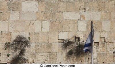 drapeau, occidental, israël, wall.