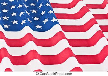 drapeau, ondulé, nous