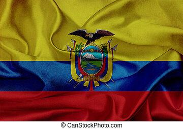 drapeau ondulant, équateur