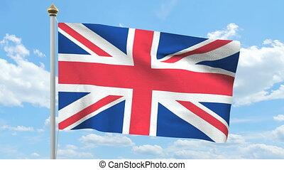 drapeau ondulant, britannique