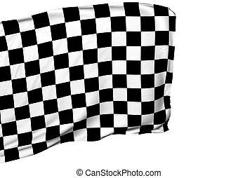 drapeau ondulant, courses, fond