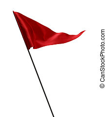 drapeau ondulant, golf, rouges