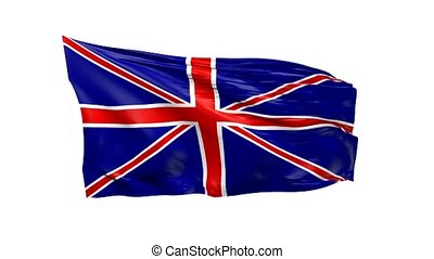drapeau ondulant, grande-bretagne