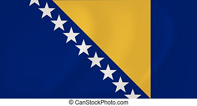 drapeau ondulant, herzégovine, bosnie