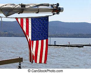 drapeau ondulant