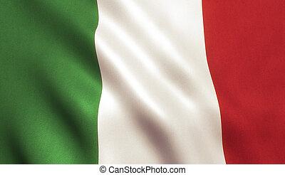 drapeau ondulant, italie, iatlian, fond