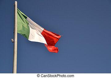 drapeau ondulant, italie
