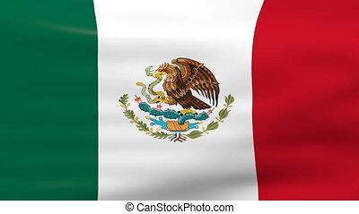 drapeau ondulant, mexique, boucle, ready.