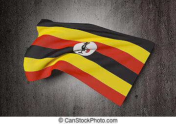 drapeau ondulant, ouganda