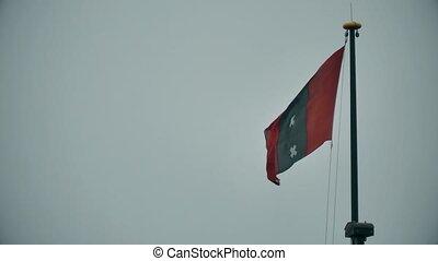 drapeau ondulant, pays-bas, amsterdam, porté