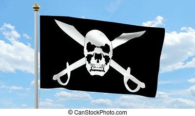 drapeau ondulant, pirate