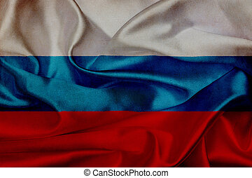 drapeau ondulant, russie