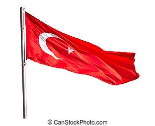 drapeau ondulant, turc