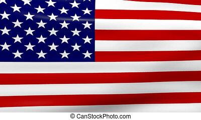 drapeau ondulant, usa, boucle, ready.