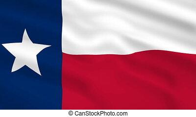 drapeau ondulant, usa, vent, texas