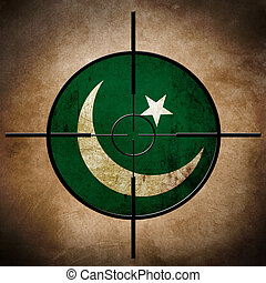 drapeau pakistan, cross-hairs