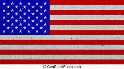 drapeau, papier, grunge, fond, usa