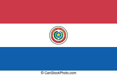 drapeau paraguay, vecteur, illustration