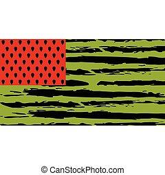 drapeau, pastèque