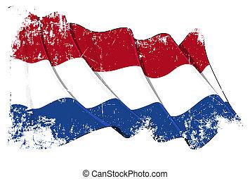 drapeau, pays-bas, grunge