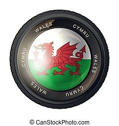 drapeau pays galles, icône