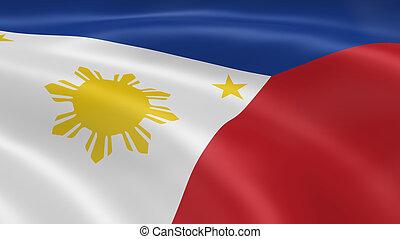 drapeau philippines, dans vent
