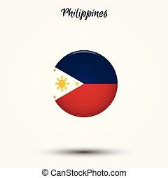 drapeau, philippines, icône