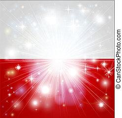 drapeau polonais, fond