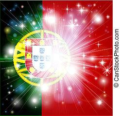 drapeau portugais, fond