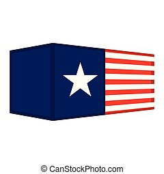 drapeau, récipient, usa