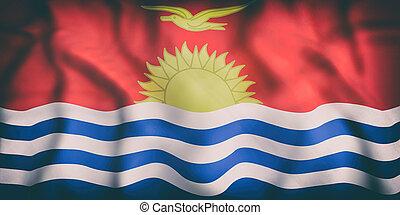 drapeau, république, kiribati