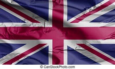 drapeau royaume-uni, 3d