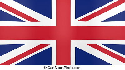 drapeau, royaume, uni, faire boucle, onduler, fond