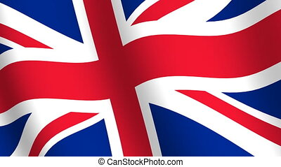 drapeau, royaume, uni, onduler