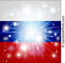 drapeau russe, fond