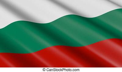 drapeau, (seamless, loop), bulgarie