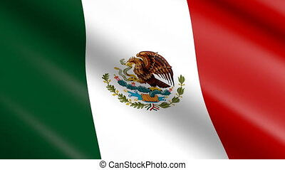 drapeau, (seamless, loop), mexique