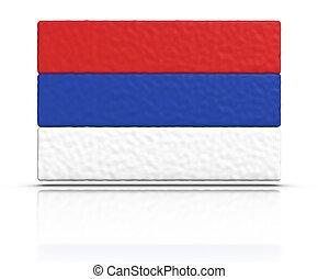drapeau, Serbie