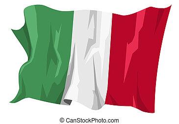 drapeau, series:, italie