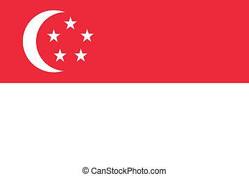 drapeau, singapour