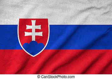 drapeau, slovaquie, a froissé