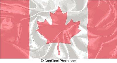 drapeau, soie, canadien
