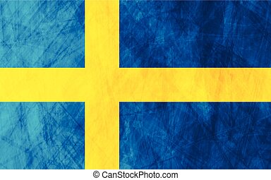 drapeau suédois, grunge