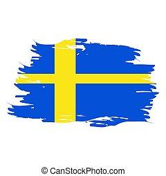 drapeau suédois, isolé